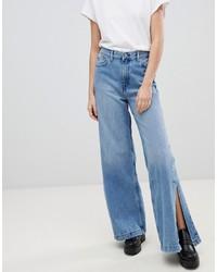 Pantalones anchos vaqueros azules de Dr. Denim