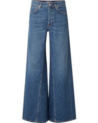 Pantalones anchos vaqueros azules de Ganni