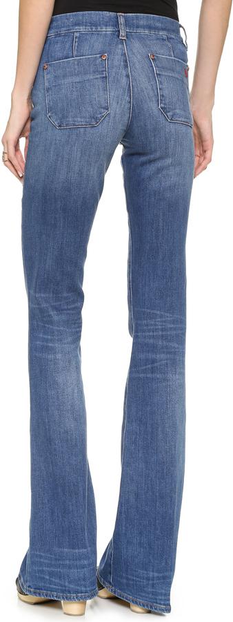 7a28d1530c Pantalones anchos vaqueros azules de MiH Jeans