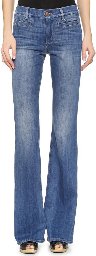 d6ea952e63 ... Pantalones anchos vaqueros azules de MiH Jeans ...