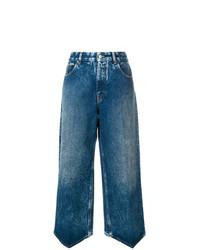 Pantalones anchos vaqueros azules de MM6 MAISON MARGIELA