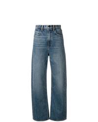 Pantalones anchos vaqueros azules de T by Alexander Wang