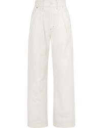 Pantalones anchos vaqueros blancos de Goldsign