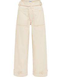 Pantalones anchos vaqueros blancos de Mugler