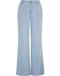 Pantalones anchos vaqueros celestes