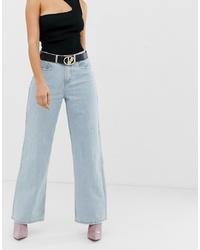 Pantalones anchos vaqueros celestes de Missguided