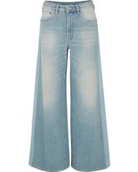 Pantalones anchos vaqueros celestes de MM6 MAISON MARGIELA