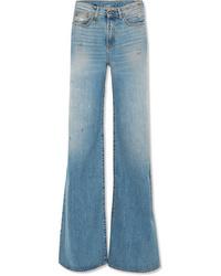 Pantalones anchos vaqueros celestes de R13