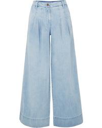 Pantalones anchos vaqueros celestes de Ulla Johnson