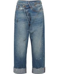 Pantalones anchos vaqueros estampados azules de R13