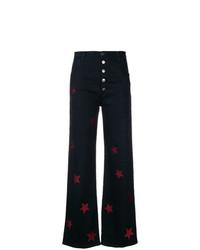 b0fe862d3a Comprar unos pantalones anchos vaqueros estampados negros  elegir ...