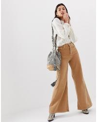 Pantalones anchos vaqueros marrón claro