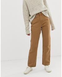 Pantalones anchos vaqueros marrón claro de Weekday