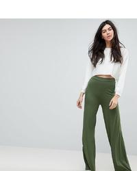 Pantalones anchos verde oliva de Asos Tall