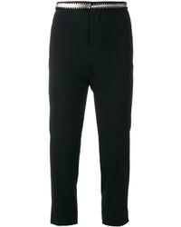 Pantalones bordados negros de Dsquared2