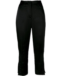 Pantalones bordados negros de Fendi