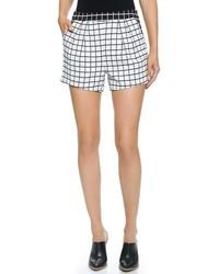 Pantalones Cortos a Cuadros Blancos y Negros