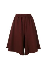 Pantalones cortos a cuadros burdeos de MM6 MAISON MARGIELA