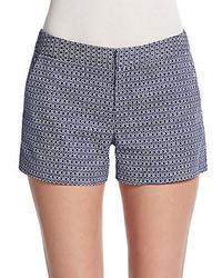 Pantalones cortos a cuadros en azul marino y blanco