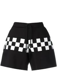 Pantalones Cortos a Cuadros Negros de Dsquared2