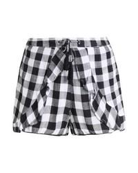 Pantalones Cortos a Cuadros Negros de River Island