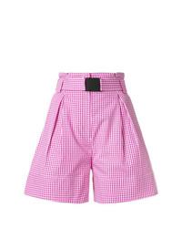 Pantalones cortos a cuadros rosados de N°21