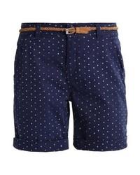 Pantalones Cortos a Lunares Azul Marino de Esprit