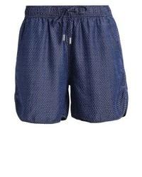 Pantalones Cortos a Lunares Azul Marino de FreeQuent