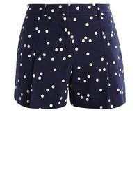 Pantalones Cortos a Lunares Azul Marino de J.Crew
