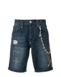 Pantalones cortos bordados azul marino de Philipp Plein