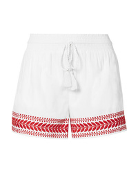 Pantalones cortos bordados blancos de J.Crew