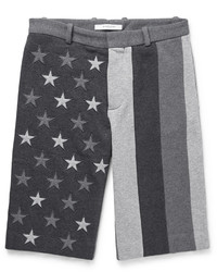 Pantalones cortos bordados en gris oscuro de Givenchy