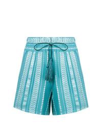 Pantalones cortos bordados en turquesa de Zeus+Dione