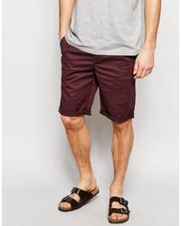 Pantalones cortos burdeos de Asos