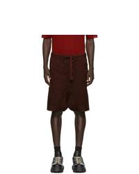 Pantalones cortos burdeos de Boris Bidjan Saberi