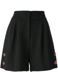 Pantalones cortos con adornos negros de Dolce & Gabbana
