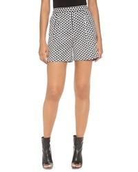 Pantalones cortos con estampado geométrico en negro y blanco de Paul Smith