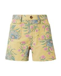 Pantalones cortos con print de flores amarillos de Madewell