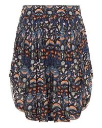 Pantalones cortos con print de flores azul marino de Chloé