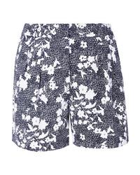 Pantalones cortos con print de flores azul marino de MICHAEL Michael Kors