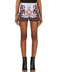 Pantalones cortos con print de flores en multicolor de Givenchy