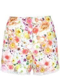 Pantalones cortos con print de flores en multicolor de MSGM