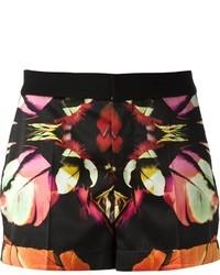 Pantalones cortos con print de flores negros de Barbara Bui