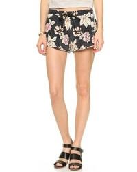 Pantalones cortos con print de flores negros de Elizabeth and James
