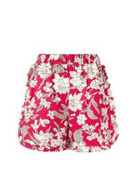 Pantalones cortos con print de flores rojos de La Doublej