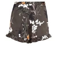 Pantalones Cortos con print de flores Verde Oliva de River Island