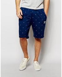 Pantalones Cortos de Algodón Azul Marino de adidas