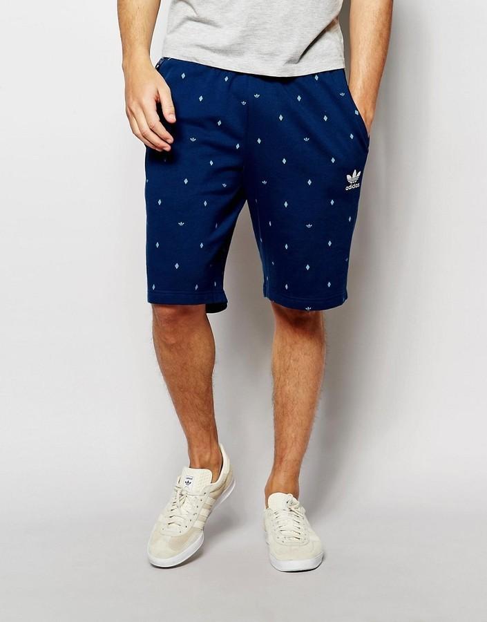 Receptor trabajo Perezoso  Pantalones cortos de algodón azul marino de adidas, €54   Asos ...