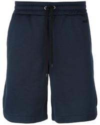 Pantalones cortos de algodón azul marino de AMI Alexandre Mattiussi