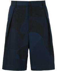 Pantalones cortos de algodón azul marino de Emporio Armani